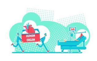 cirurgia de transplante de órgão vetor