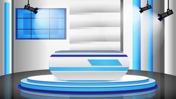 estúdio de notícias vazio