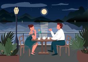 encontro romântico em cidade costeira