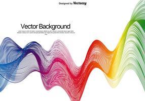 Ondas abstratas coloridas do vetor