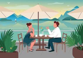 encontro romântico em resort à beira-mar