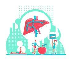 laboratório de saúde hepática vetor