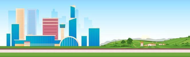 áreas urbanas e rurais vetor