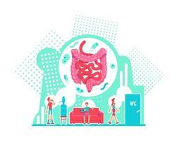 sistema digestivo cuidados de saúde vetor