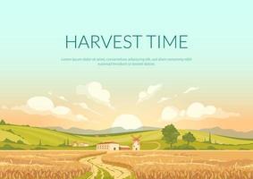 pôster da época da colheita vetor