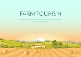 pôster de turismo rural vetor