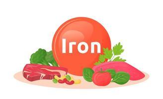 produtos contendo ferro