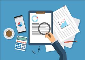 Verificação de receita de vetores grátis