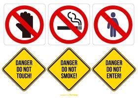 Coleção de sinais de perigo vetor