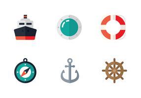 ícone marinho plano vetor