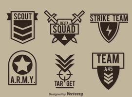 Coleção de emblema militar Coleção vetor