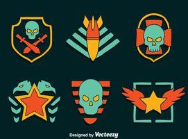 Grande emblema do emblema militar vetor