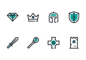 Conjunto de ícones do rei vetor
