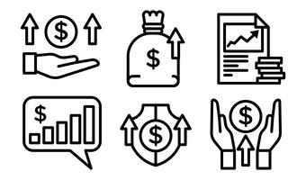 Ícones do vetor de receita
