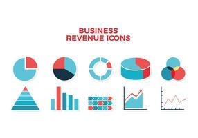 Ícone de gráfico de receita de negócios Vector grátis