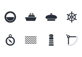 Pacote de vetores de ícones náuticos