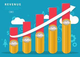 Gráfico de receita de negócios de vetores