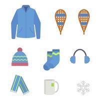 Vetores essenciais de inverno plano
