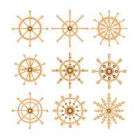 Coleção de vetores de roda de navios grátis