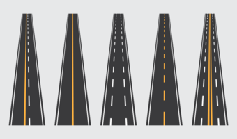 Estrada para o vetor de transporte