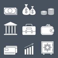 Ícones de linha de finanças vetor