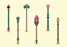 Pacote vetorial sceptre vetor