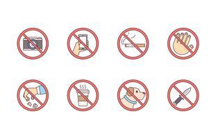 Sinais proibidos vetor