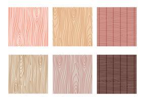 Variante de coleção de vetores de padrões Woodgrain