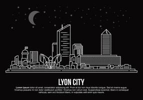 Ilustração vetorial da cidade de Lyon