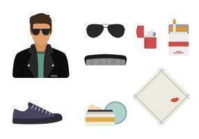 Vetores essenciais do estilo Greaser