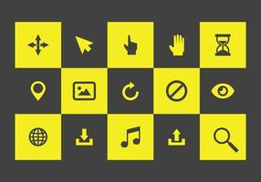 mouse sobre ícones vetor livre