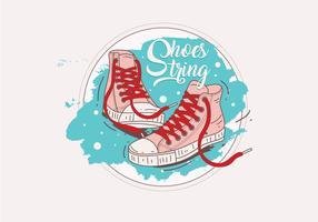 Sapatos com Shoestring Vector