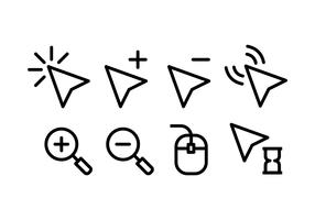 Ícones do ponteiro do mouse vetor