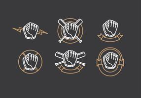 luva softball vector grátis