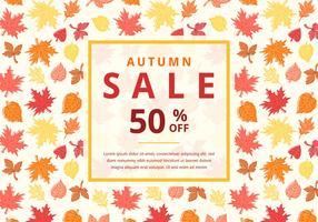 Fundo do vetor da venda do outono com folhas de bordo