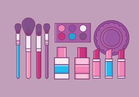 Conjunto de elementos de maquiagem de vetores