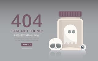 Ilustração de Halloween. Figuras de horror engraçadas. Visualização de erro de página de 404 páginas. vetor