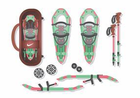 Pacote de vetores de sapatos de neve