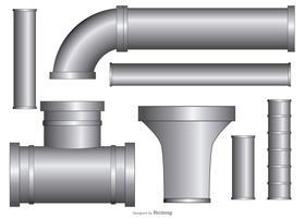 coleção de tubos de goteira de vetores