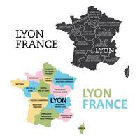 Mapa de Lyon vetor