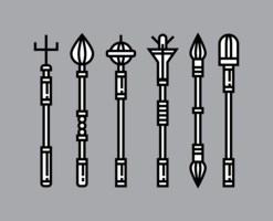 Ícones de cetro vetor