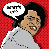 Retrato de vetor de James Brown