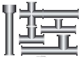 coleção de tubos de calha vetor