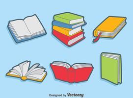 Coleção Coleção de livros vetor
