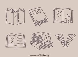 Vector de coleção de livros de esboço