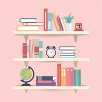 Vetor de ilustração de livro de prateleiras