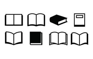 Conjunto de ícones de livros vetor