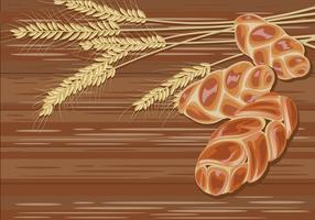 Pão Challah Tradicional Sobre Vetor De Fundo De Madeira