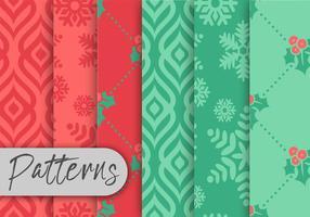 Conjunto de Padrões de Natal vetor