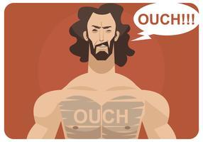 Vetor de depilação no peito